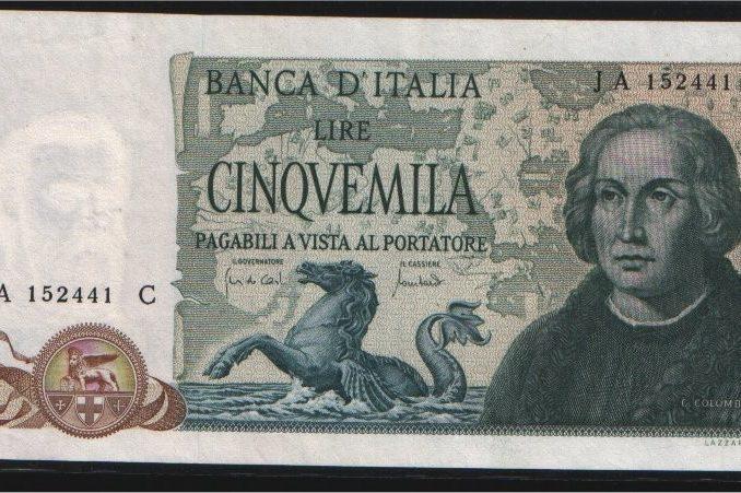 BANCONOTA-5000-Lire-Colombo-3-Caravelle-1-678x451