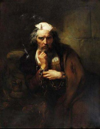 COLOMBO-ARTE-DOC-pittore-belga-Gustave-Wappers-Antwerpen-1803-Paris-1874-Colomb-enchainé-1860-351x450