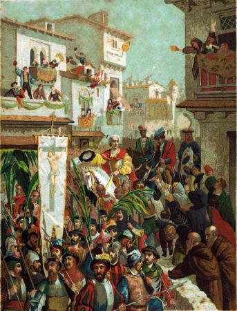 COLOMBO-ARTE-Illustrazione-ricavata-dallopera-Cristoforo-Colombo-del-conte-Roselly-de-Lorgues-edita-dalla-Soc-Gen-Libraria-Cattolica-di-Parigi1891.-343x450