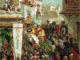COLOMBO-ARTE-Illustrazione-ricavata-dallopera-Cristoforo-Colombo-del-conte-Roselly-de-Lorgues-edita-dalla-Soc-Gen-Libraria-Cattolica-di-Parigi1891.-80x60