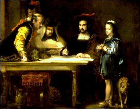 COLOMBO-ARTE-Wilkie-Christopher-Columbus-in-the-Convent-of-la-Rabida-explaining-his-intended-voyage-450x352