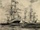 COLOMBO-ARTE-MARIN-MARIE-Les-honneurs-rendus-aux-cendres-de-Colomb-acquerello-docdocodocdoc-80x60