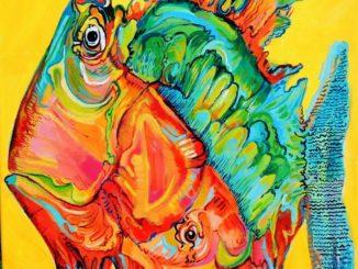 SAVONA-MOSTRA-Elisa-Traverso-Lacchini-pesce-due-colori-blurossi-326x245