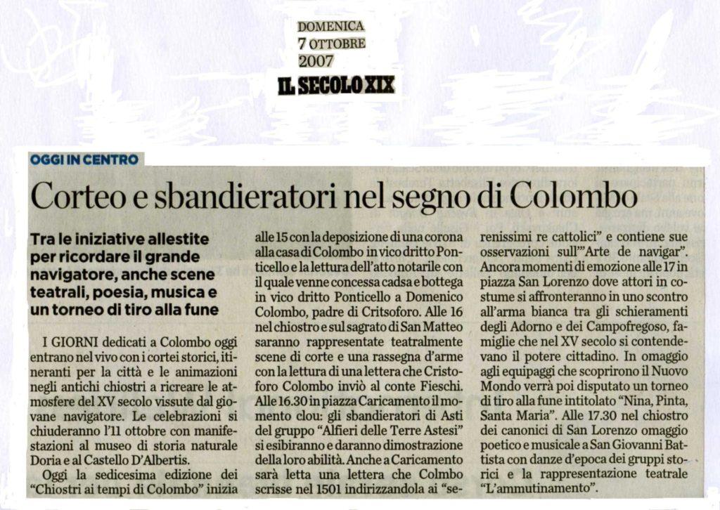 ARTICOLI-IL-SECOLO-XIX-Domenica-7-ottobre-2007-Corteo-e-sbandieratori-nel-segno-di-Colombo-1024x726