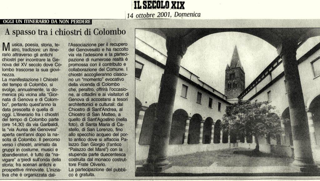 IL-SECOLO-XIX-Domenica-14-ottobre-2001-A-spasso-tra-i-chiostri-di-Colombo.-1024x580