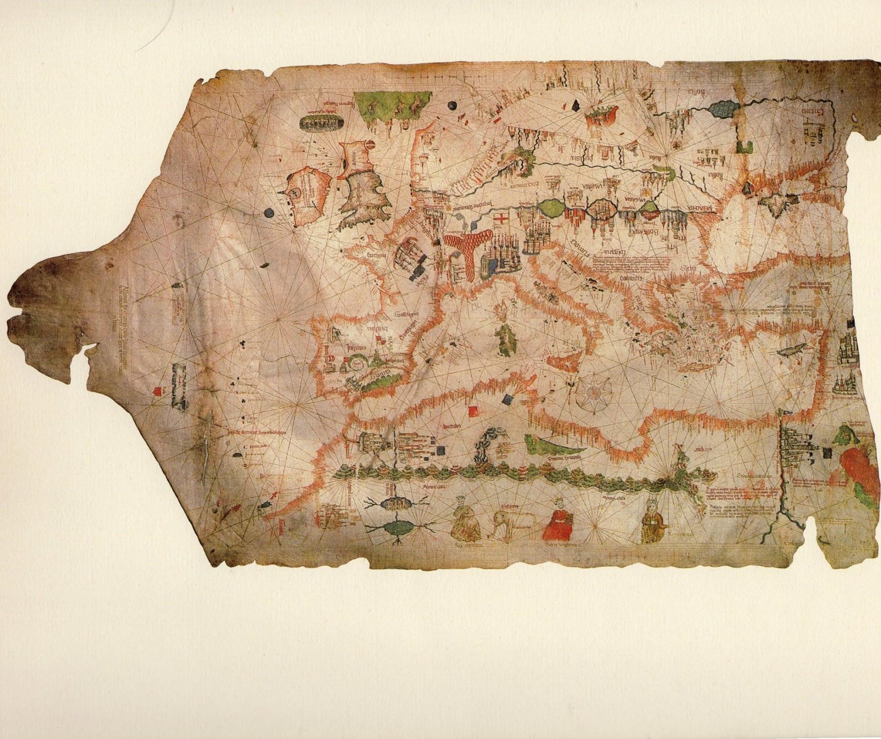 Planisfero Di Cantino 1502 Biblioteca Universitaria Estense