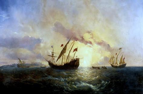 COLOMBO-ARTE-Antonio-Brugada-Madrid-1804-–-San-Sebastian-1863-Alba-de-América-12-de-octubre-de-1492
