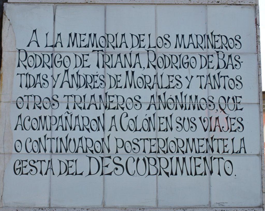 Rodrigo-de-triana-Monumento_a_los_ángeles_trianeros  Rodrigo-de-Triana-lapide-con-nomi-1024x816