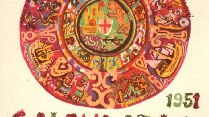 Calendario Maya Nascita.Emanuele Luzzati Illustrazioni Calendario Colombiano Per