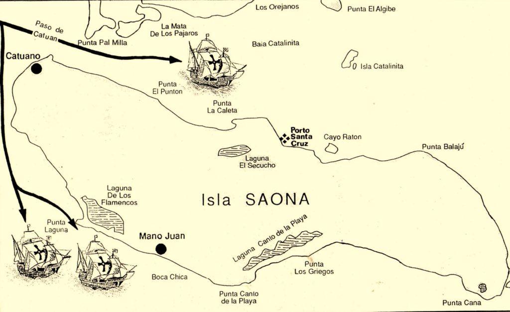 SAONA-Isla-Saona-Canal-Catuano  Saona-navi-1024x627
