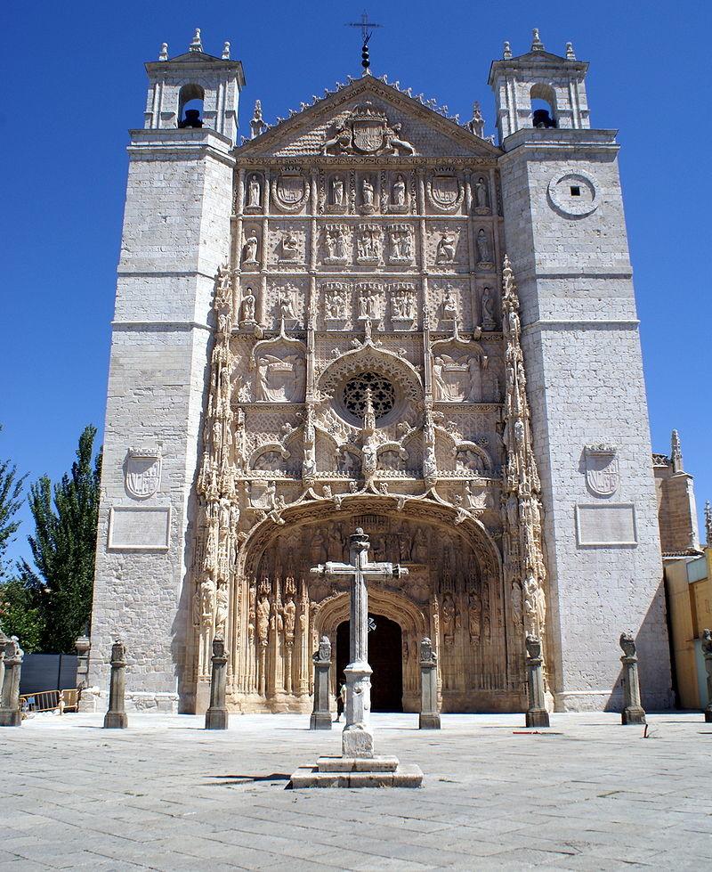 BARTOLOME-Fachada_de_la_iglesia_conventual_de_San_Pablo_Valladolid-consacrato-vescovo-nel-1544