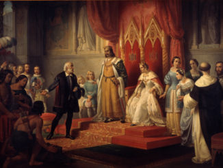 COLOMBO-ARTE-JUAN-Juan_Cordero_-_Cristopher_Columbus_at_the_Court_of_the_Catholic_Monarchs_-_Google_Art_Project-326x245