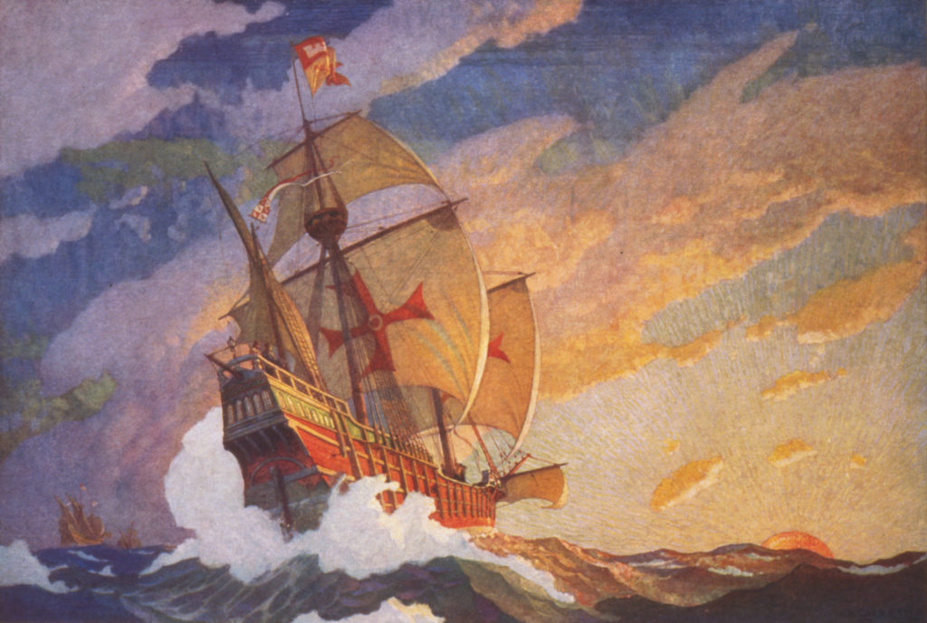 Newell-Convers-WyethColumbus-Crossing-The-Atlantic-was-completed-in-1927.-1024x688