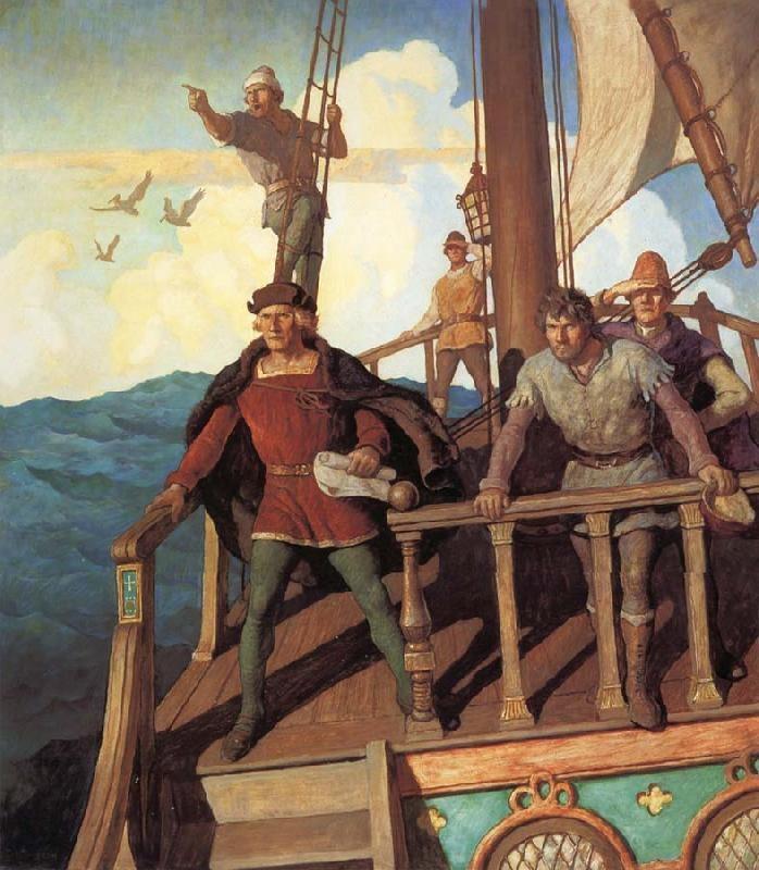 Wyeth-Colombo-vede-il-Nuovo-Mondo.