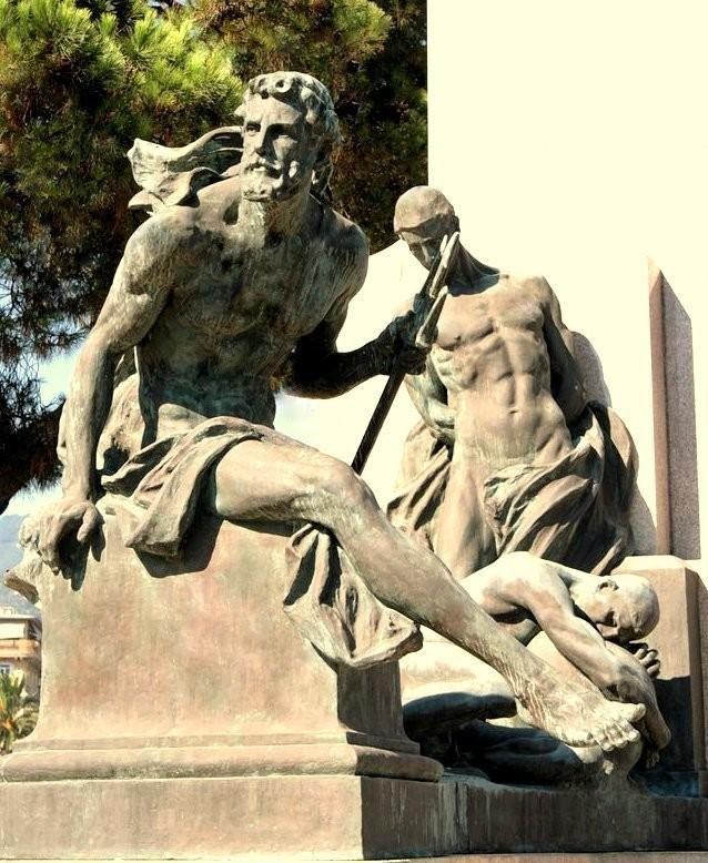 Rapallo-intero-828x1024  RAPALlo-Arturo-Dresco-1875-1961  RAPALLO-C.C.-particolare-allegorico-doc  RAPALLO-DOC-monumento-pulito-1024x689  RAPALLO-Nettuno