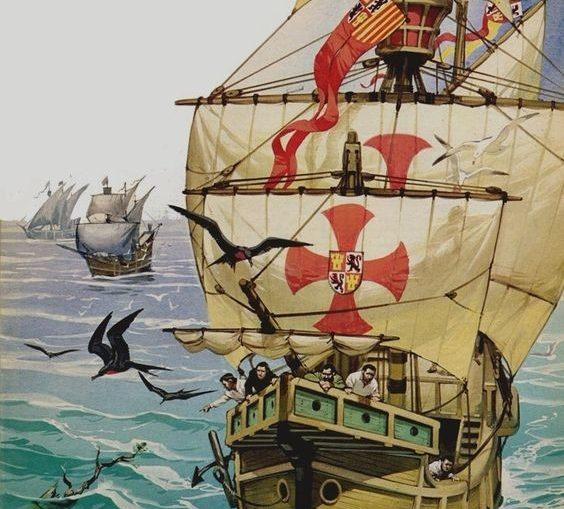 Angus-Angus-McBride-El-primer-viaje-de-Critóbal-Colón-1492-564x509