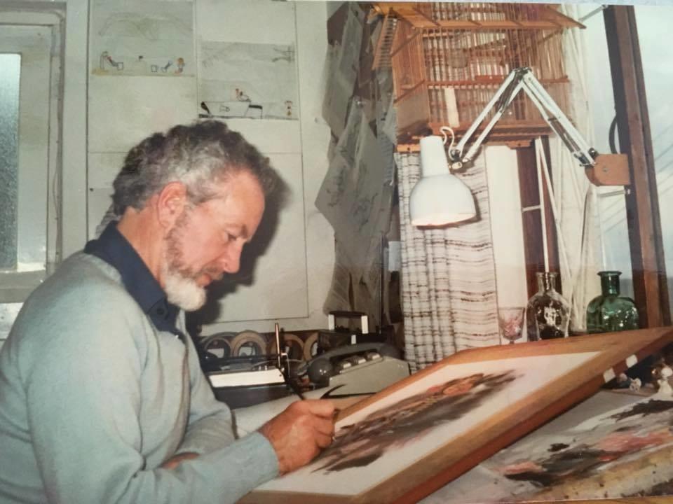 Angus-McBride-Foto-al-lavoro