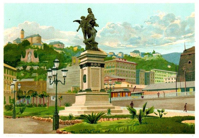 Duca-di-Galliera-inaugurazione-monumento-1024x711  Duca-di-Galliera-statua-Piazza-Commenda-e-Grand-Hotel-1024x651  Duca-di-Galliera-e-collina-S.-Rocco-cromolitografia-or.-Bertarelli-1900-1024x744-DOC