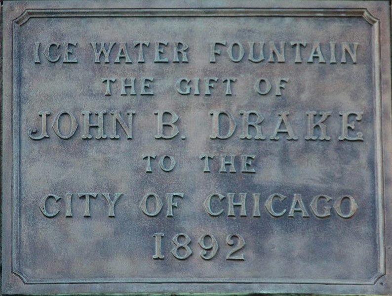 Chicago-fontana-Cristoforo-Colombo  Chicago-John-Burroughs-Drake-LibanoOhio-1826-Chicaho-1895  Chicago-doc-C.Colombo-fountain  Chicago-DOC-statua-con-targa  Chicago-scritta