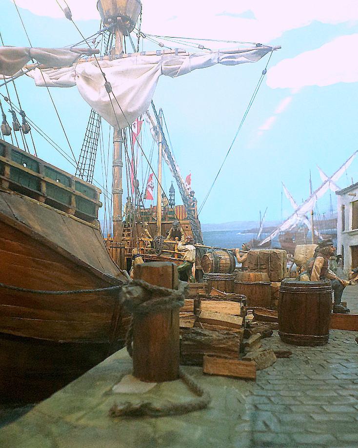 Diorama-porto