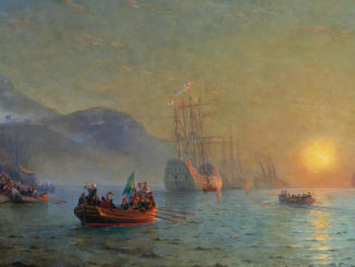 Iwan-Konstantinowitsch-Aiwasowski-columbus-sailing-from-palos-326x245