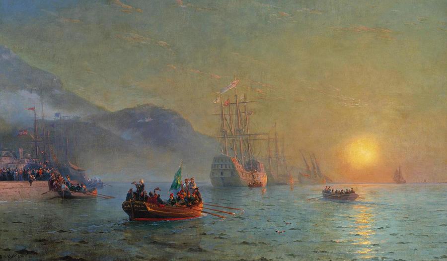 Iwan-Konstantinowitsch-Aiwasowski-columbus-sailing-from-palos