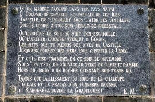 Guadeloupe-Sainte-marie-capesterre-belle-eau  Guadeloupe-resti-antichi  Guadaloupe-DOC-monumento-pulito-712x1024  Guadaloupe-DOC-Busto-al-cielo  Guadeloupe-200-metri  Guadeloupe-Mémorila-al-completo  Guadeloupe-DOC-targa  Guadaloupe-DOC-Ode-a-C.-Colomb