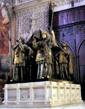 Monasterio-en-sus-inicios-1024x692  MARIN-MARIE-Les-honneurs-rendus-aux-cendres-de-Colomb-acquerello-docdocodocdoc-2  Ceneri-Conde-de-Venadito  Ceneri-Giralda-1024x631  cattedrale-di-Siviglia-tomba-di-Cistoforo-Colombo