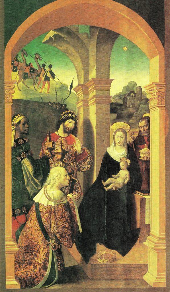 Alejo-Fernandez-Adorazione-dei-Re-Magi-1507-1508-Cattedrale-di-Siviglia.-597x1024
