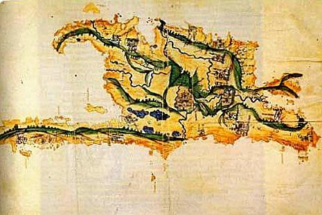 Cristoforo-Colombo-schizzo-della-costa-nord-di-Hispaniola-doc  Hispaniola-Pietro